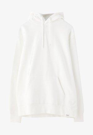 MIT KAPUZE UND BAUCHTASCHE  - Hoodie - white