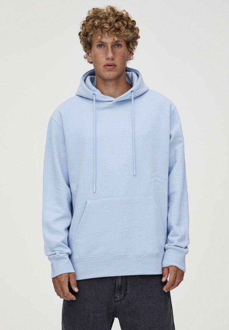 PULL&BEAR - Sweat à capuche - light blue