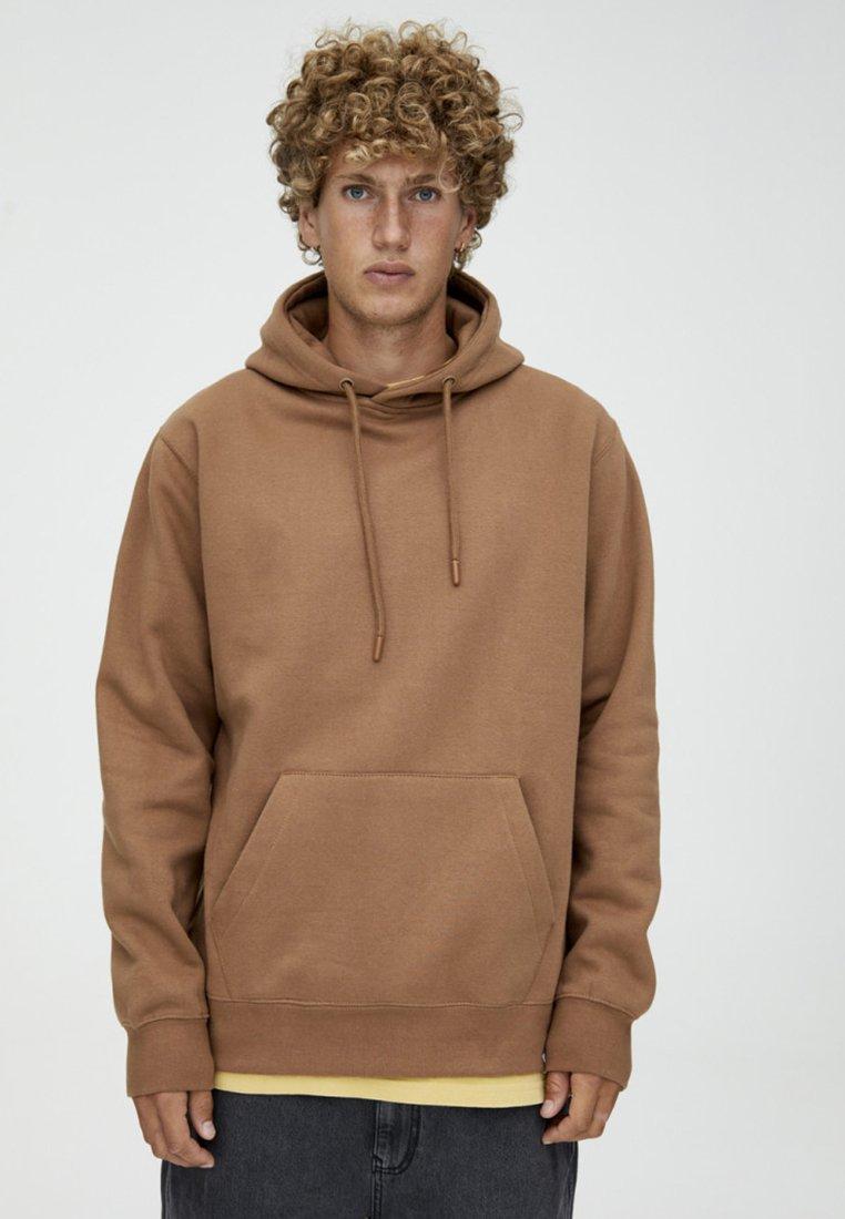 PULL&BEAR - BASIC - Hoodie - brown