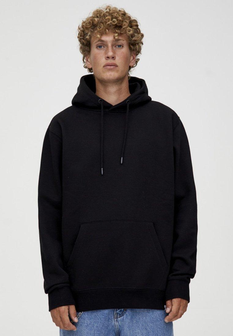 PULL&BEAR - BASIC - Bluza z kapturem - black