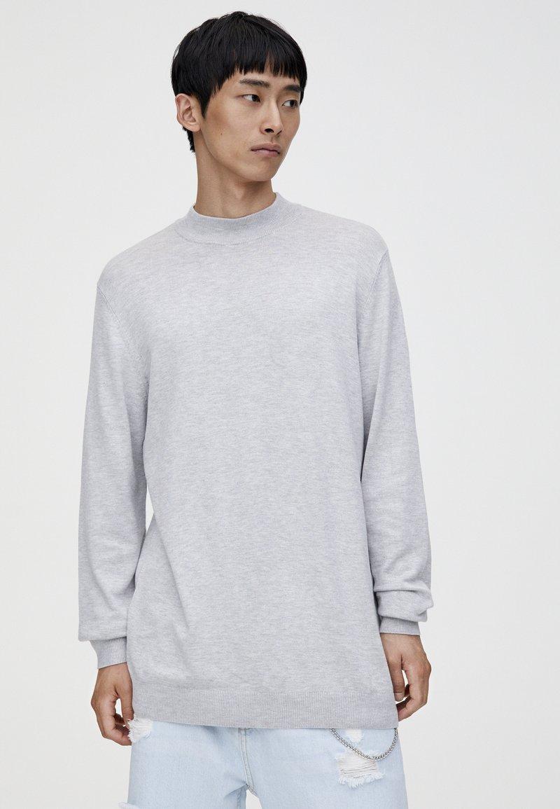 PULL&BEAR - MIT PERKINSKRAGEN - Sweatshirt - grey