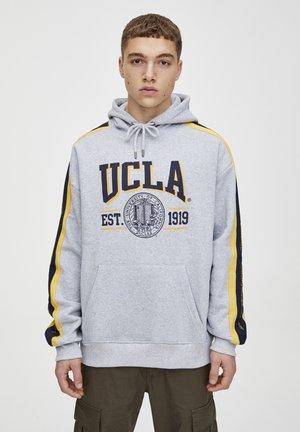UCLA  - Mikina skapucí - light grey