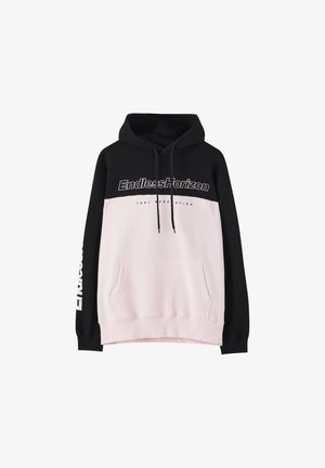 MIT SLOGAN - Sweat à capuche - mottled pink