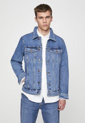 MIT RISSEN  - Kurtka jeansowa - dark blue