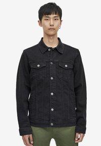 PULL&BEAR - Giacca di jeans - black - 0