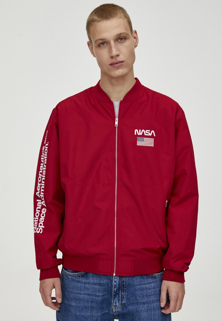 PULL&BEAR - NASA - Bomber Jacket - red