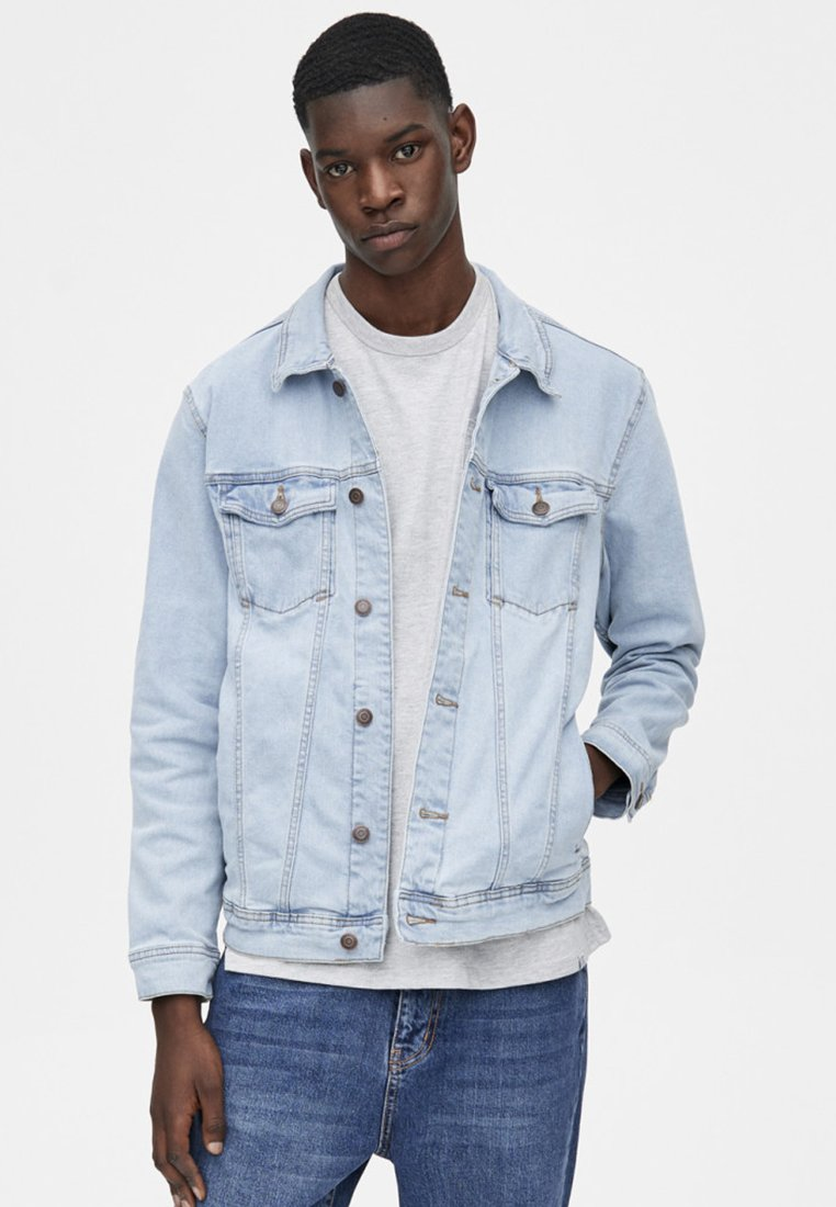 PULL&BEAR - IM KOMFORT-FIT  - Denim jacket - blue denim