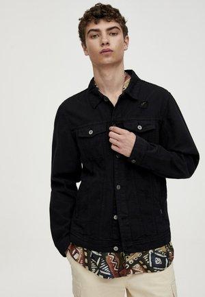 mit Rissen - Giacca di jeans - black