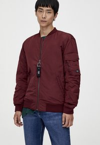 PULL&BEAR - BASIC - Bomberjacks - bordeaux - 3