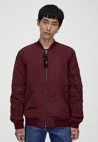 PULL&BEAR - BASIC - Bomberjacks - bordeaux - 0