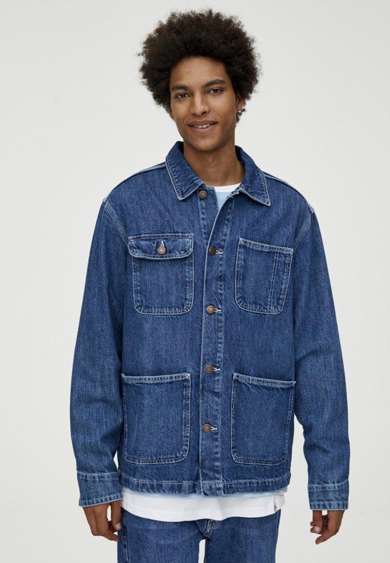 PULL&BEAR - MIT KONTRASTEN - Džínová bunda - blue