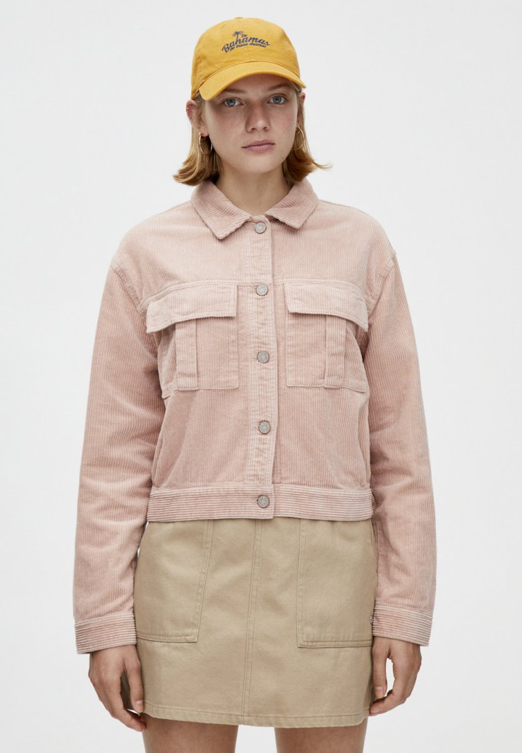 PULL&BEAR - MIT GUMMIZUG - Summer jacket - rose