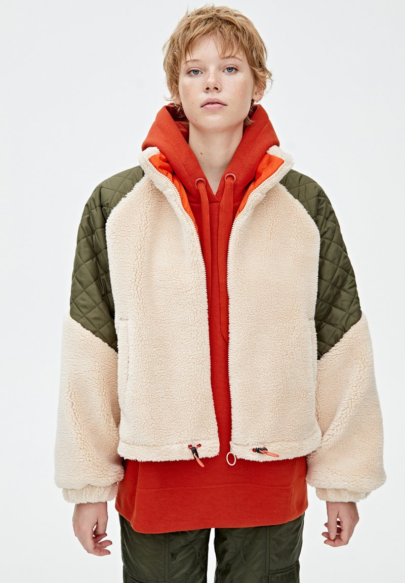 PULL&BEAR - Giacca invernale - beige