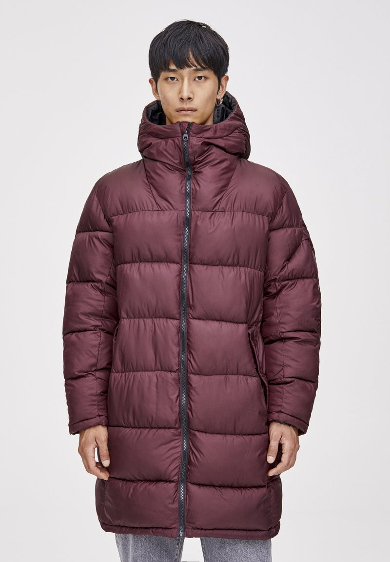 PULL&BEAR - Winter coat - bordeaux