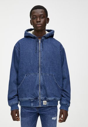MIT KAPUZE  - Kurtka jeansowa - blue