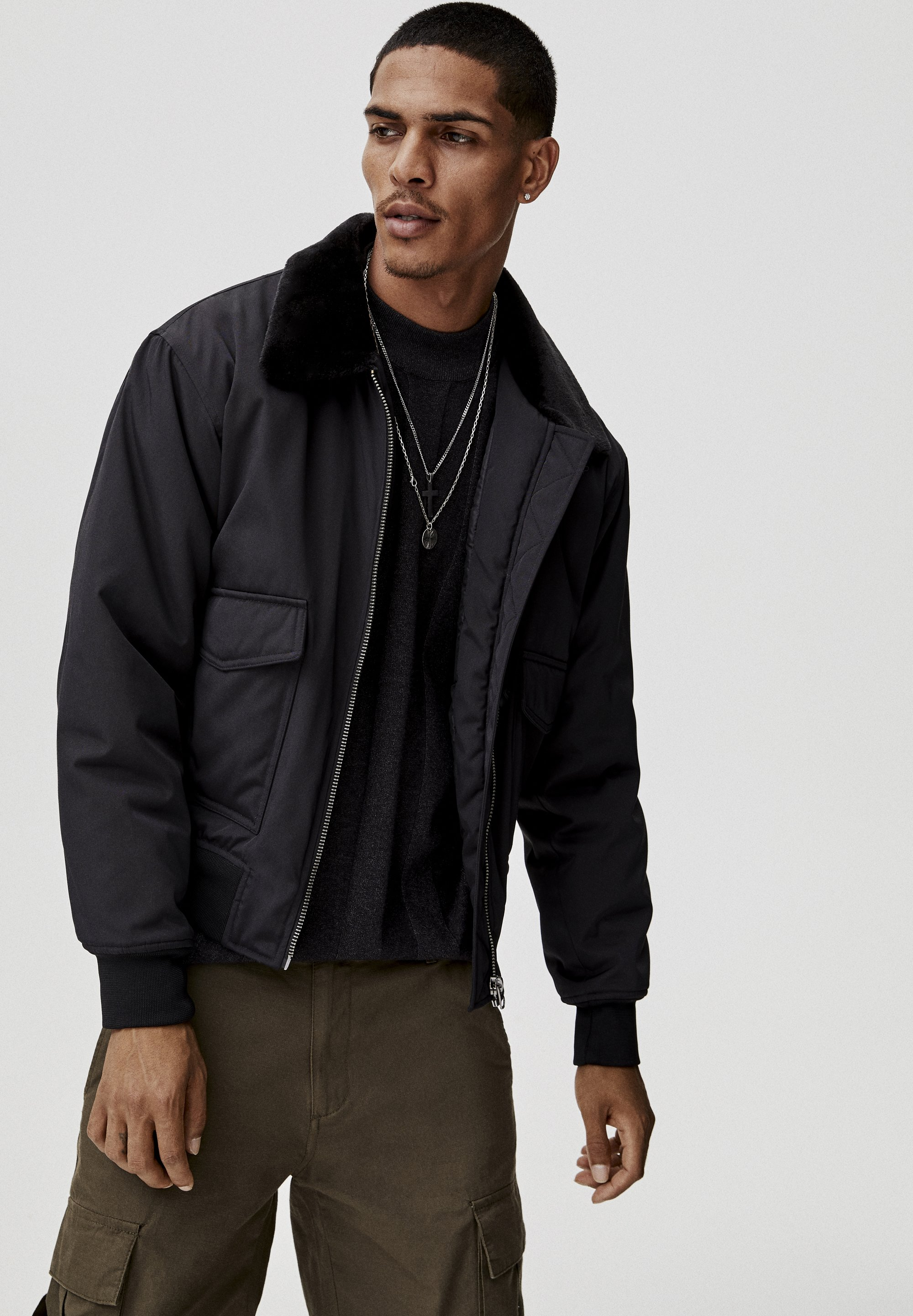 amp;bear Invernale Pull Giacca amp;bear Giacca Black Pull Invernale Black Pull amp;bear rCtsxBhdQ