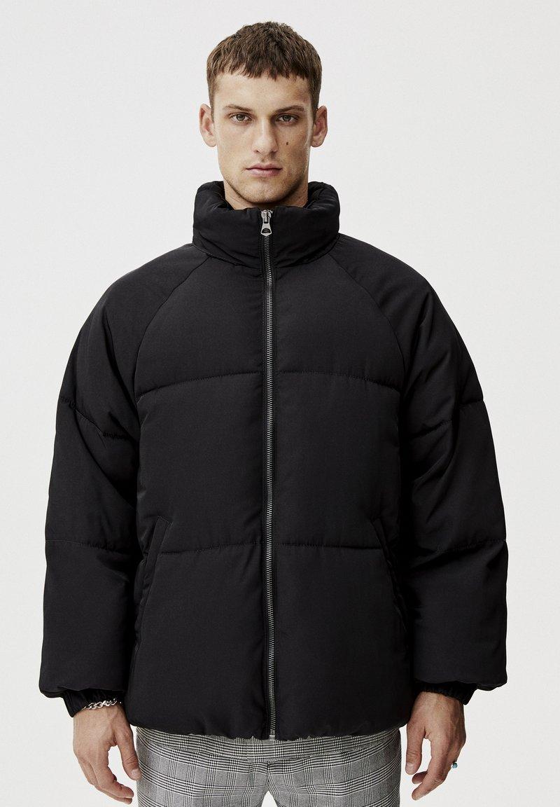PULL&BEAR - Winterjas - mottled black