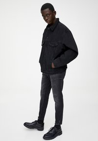 PULL&BEAR - Džínová bunda - black - 1