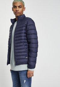 PULL&BEAR - Zimní bunda - dark blue - 3