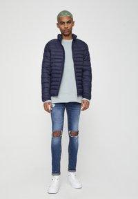 PULL&BEAR - Zimní bunda - dark blue - 1