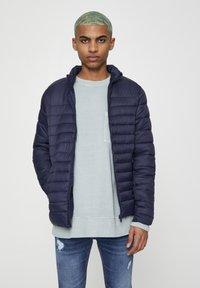 PULL&BEAR - Zimní bunda - dark blue - 0