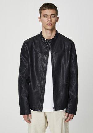 BIKER - Imitatieleren jas - black