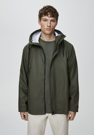 Waterproof jacket - dark green