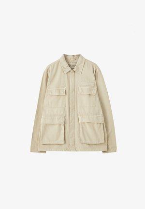 MIT PATTENTASCHEN - Lehká bunda - mottled beige