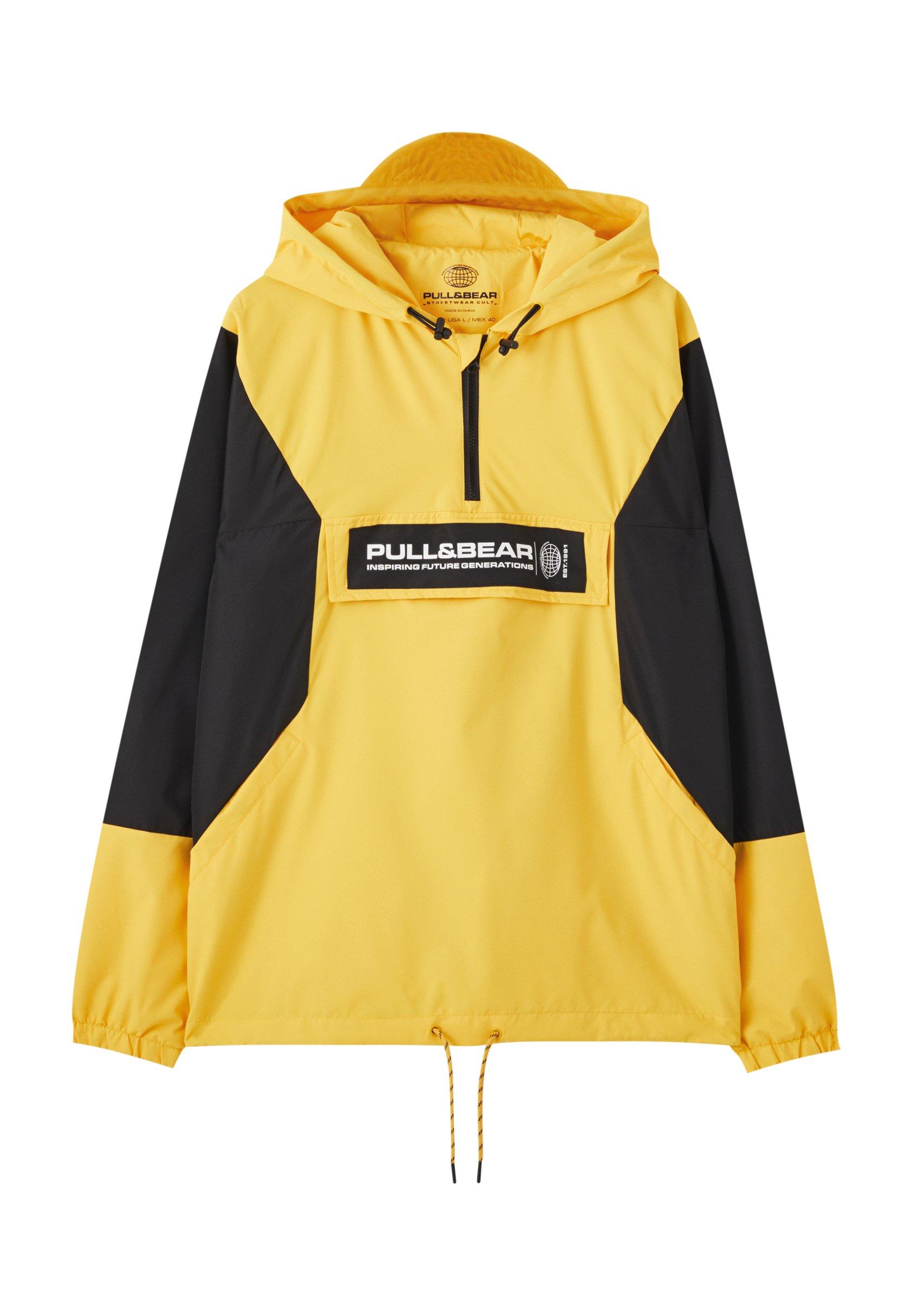 PULL&BEAR MIT BAUCHTASCHE UND KAPUZE Windbreaker yellow
