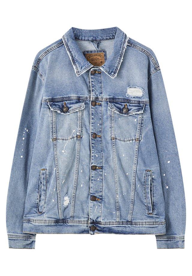 MIT ZIERRISSEN - Kurtka jeansowa - light-blue denim