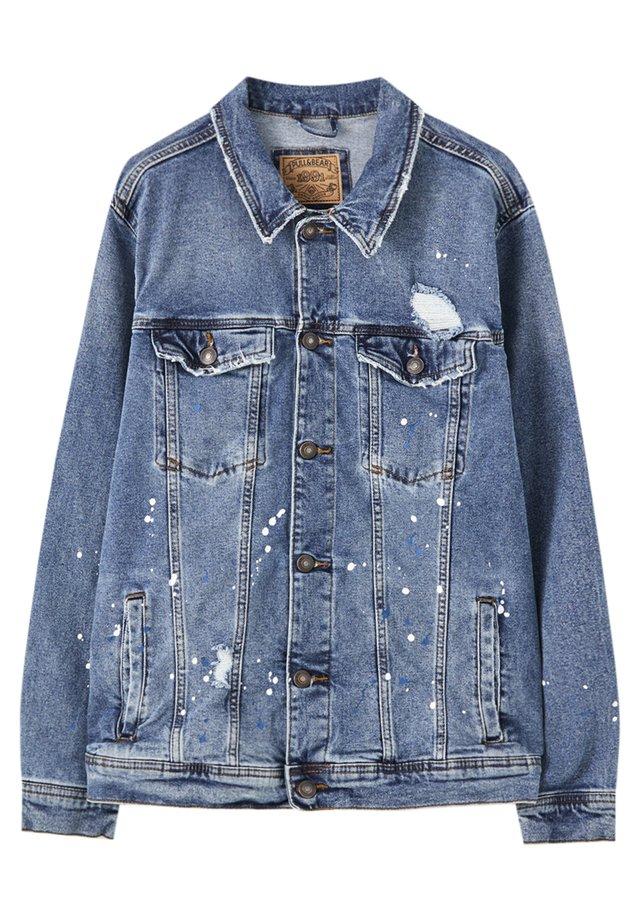 MIT ZIERRISSEN - Kurtka jeansowa - light blue