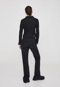 PULL&BEAR - Veste en jean - metallic black - 2