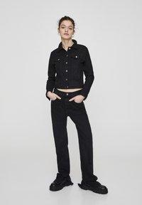 PULL&BEAR - Veste en jean - metallic black - 1