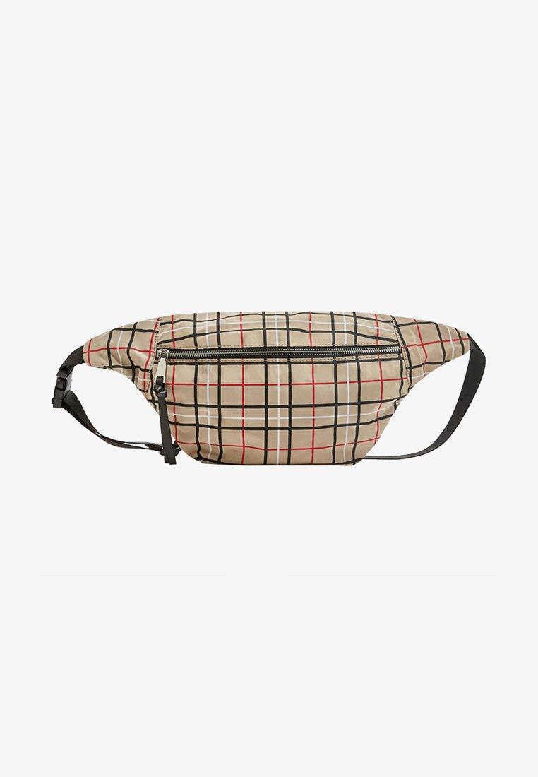 PULL&BEAR - Bum bag - beige/red/black