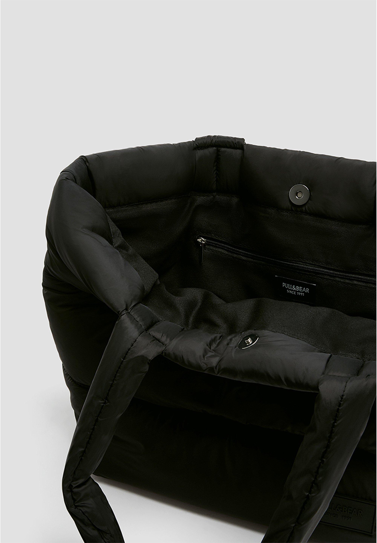 PULL&BEAR GESTEPPTE SHOPPERTASCHE 14028540 - Shopping bag - black