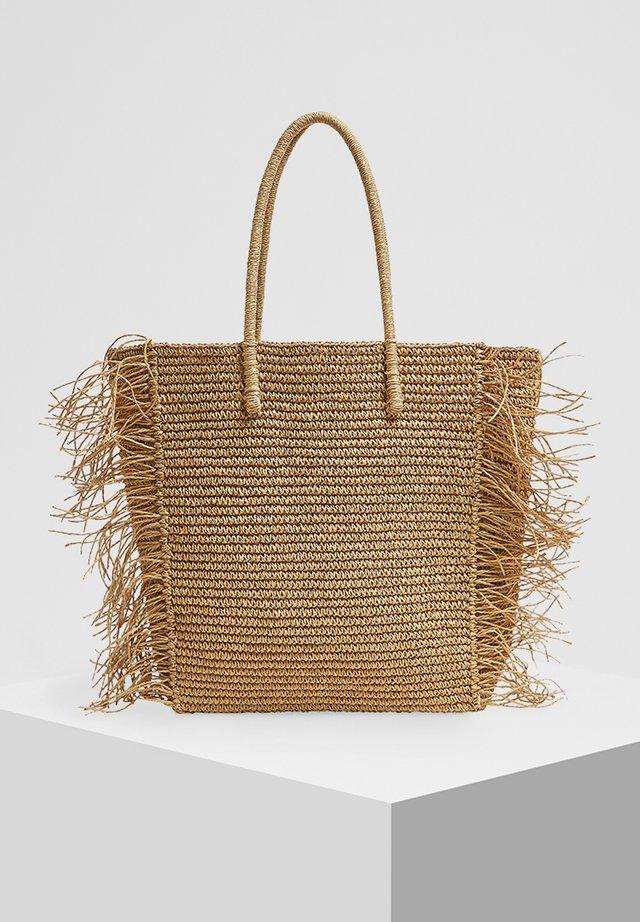 MIT FRANSEN - Shopping bag - sand