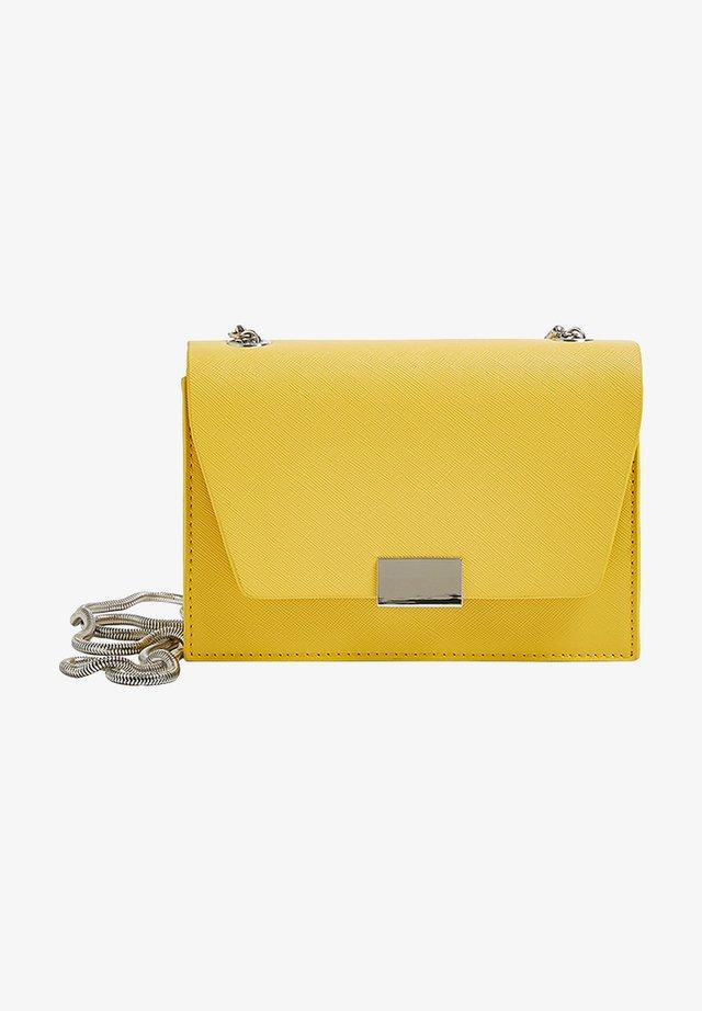 Taška spříčným popruhem - neon yellow