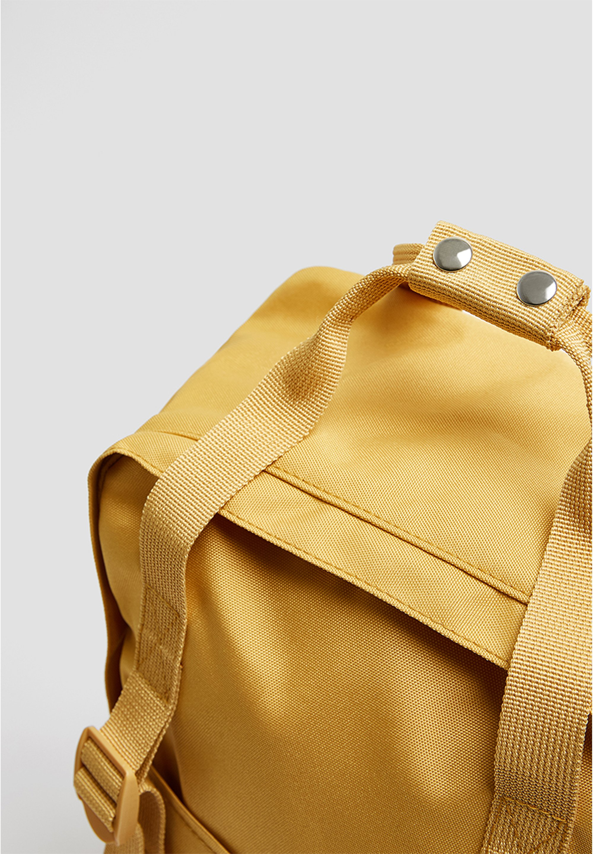 PULL&BEAR MIT LOGO Sac à dos mustard yellow ZALANDO.FR