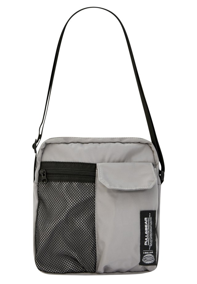 MIT LOGO - Across body bag - metallic grey