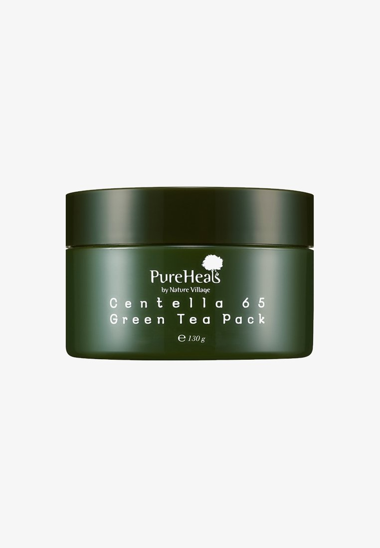 PureHeals - CENTELLA 65 GREEN TEA PACK JAR 130G - Ansiktsmask - -