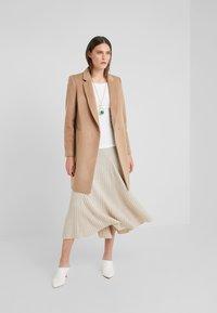 pure cashmere - FLARED SKIRT - A-line skirt - oatmeal - 1