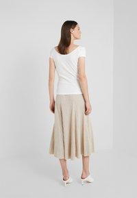 pure cashmere - FLARED SKIRT - A-line skirt - oatmeal - 2
