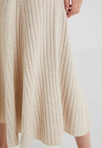 pure cashmere - FLARED SKIRT - A-line skirt - oatmeal - 4