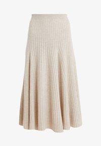 pure cashmere - FLARED SKIRT - A-line skirt - oatmeal - 3