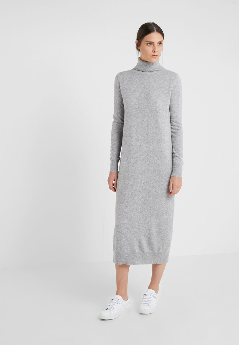 pure cashmere - TURTLENECK  DRESS - Długa sukienka - light grey