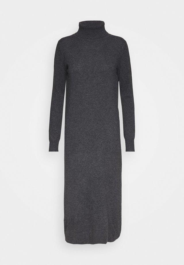 TURTLENECK  DRESS - Długa sukienka - graphite