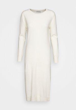 CREW NECK DRESS - Abito in maglia - ivory