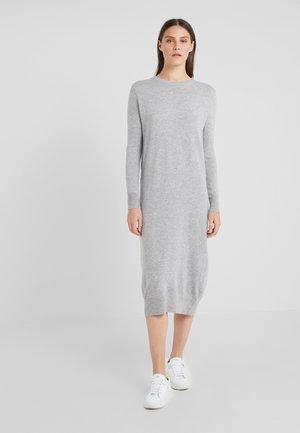 CREW NECK DRESS - Strikket kjole - light grey