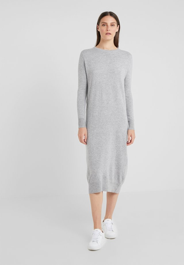 CREW NECK DRESS - Gebreide jurk - light grey