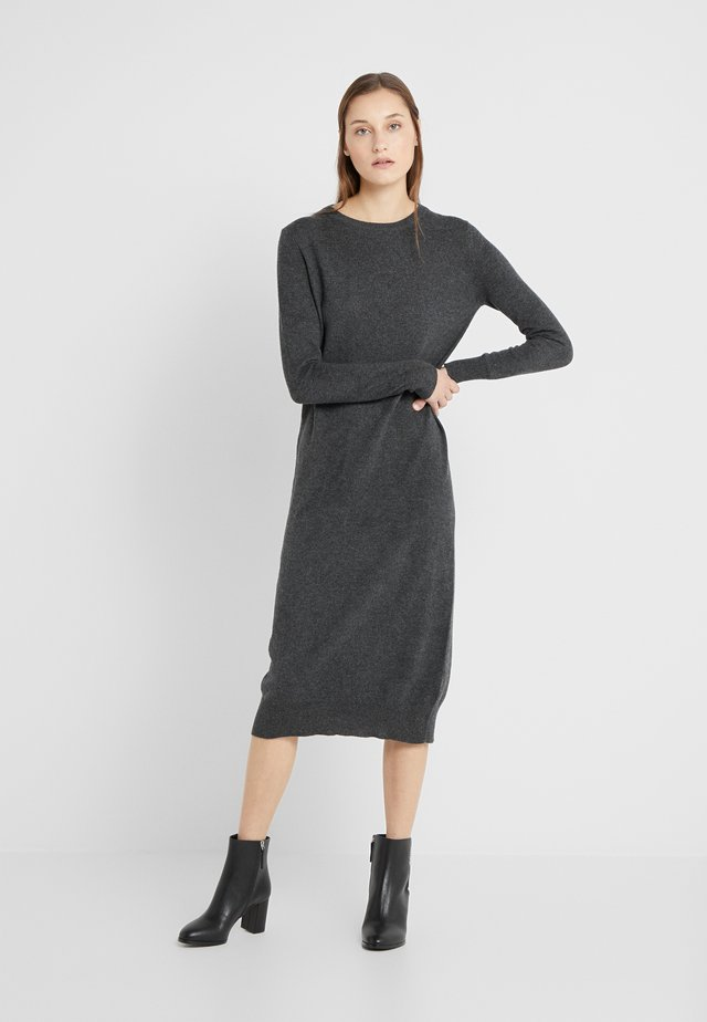 CREW NECK DRESS - Stickad klänning - graphite